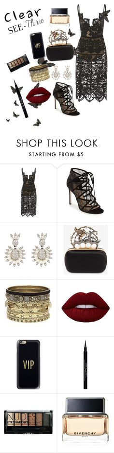 """""""See Thru"""" by nury-sg ❤ liked on Polyvore featuring Disney, Pour La Victoire, Alexander McQueen, Daytrip, Lime Crime, Casetify, Givenchy, Boohoo, clear and Seethru"""