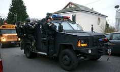 US police departments are increasingly militarised, finds report   Law   The Guardian