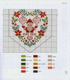 Χαριτωμένα σχέδια για Χριστουγεννιάτικα κεντήματα, σταυροβελονιά, Cute designs for Christmas embroidery, cross stitch, Dessins mignons pour la broderie de Noël, point de croix,