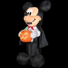 a02a9c4311c Disney 3.5 ft. Airblown Lighted Mickey Vampire with Pumpkin-60881 at The  Home Depot
