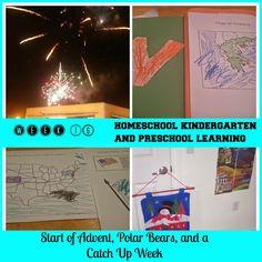 Raising Samuels Homeschool: Week 16: Start of #Advent, Polar Bears, and a Catch Up Week (#Homeschool #Kindergarten and #Preschool Learning)
