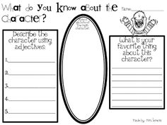 Step into 2nd Grade with Mrs. Lemon - Character Description Graphic Organizer