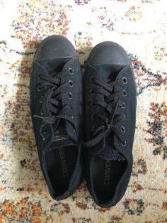 Black CONVERSE shoes - US6 (mens) US7.5 (womens) 24cm