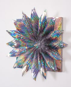 Jen Stark- Psychedelic Card and Paper Art (sculpture)