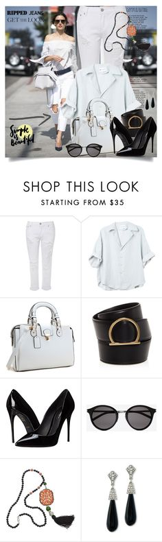 """""""Simple is beautiful"""" by jan31 ❤ liked on Polyvore featuring Glamorous, Salvatore Ferragamo, Dolce&Gabbana, Yves Saint Laurent and Kenneth Jay Lane"""