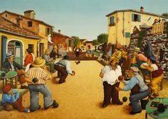 Giocatori di bocce - Giuseppe Boschetti