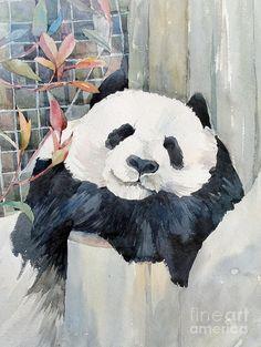 Panda Painting by Natalia Eremeyeva Duarte - Panda Fine Art Prints and Posters for Sale