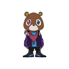 PSD Detail   Kanye West Bear   Official PSDs ❤ liked on Polyvore