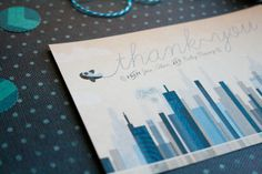 Vintage aviation baby shower thank you cards by PaperStreetPress