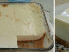Krémový koláč z 3 přísad: Určitě ho vyzkoušejte – 10 minut a máte hotovo!