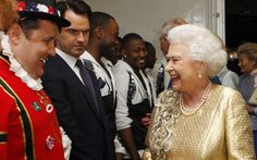 After the concert the Queen was introduced to the acts backstage by Kylie Minogue and Gary Barlow. The Queen shared a joke with the comedian Peter Kay, who as one of the evening's comperes wore a Beefeater outfit he had had made for the occasion, and met Kay's fellow compere, the comedian Jimmy Carr.  Picture: Dave Thompson/PA