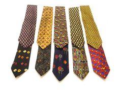 Lot of 10 Ermenegildo Zegna Men's Necktie Italian Silk Ties Multi-Color Floral #ErmenegildoZegna #Tie