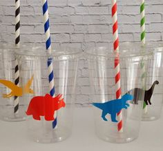 12 oz. Dinosaur Party Cups Set of 12 by WoodBeDesigns on Etsy, $14.00