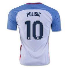 04ee7963daf 2016/17 USA Christian Pulisic 10 White Home Soccer Jersey Football Shirt  Trikot Maglia Playera De Futbol Camiseta De Futbol