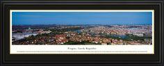 Prague, Czech Republic Deluxe Frame Panorama - $199.95