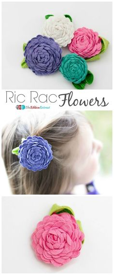 Ric Rac Flowers - The Ribbon Retreat Blog