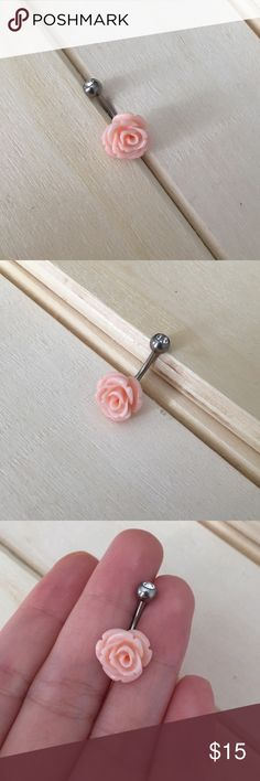 Pink Rose Belly Button Ring Brand New! 14 Gauge Surgical Steel. Absolutely no trades. Check out my all my items! Reasonable offers accepted! Bundle items for one shipping cost & a discount!  Thanks for looking ☺️ If you have any questions leave a comment below   Belly Button Ring Navel Piercing 14G Surgical Steel Body Jewelry New Jewelry Rings