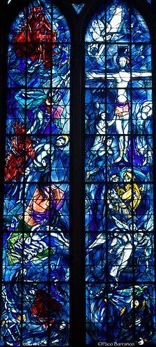 Catedral de Reims, Chagall by Paco Barranco, via Flickr