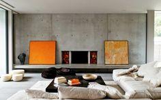 wohneinrichtung ideen beton krasse akzente wohnideen wohnzimmer