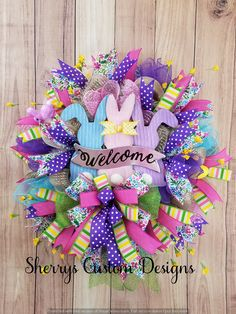 Easter Wreaths, Holiday Wreaths, Spring Wreaths, Holiday Crafts, Wreaths For Front Door, Mesh Wreaths, Front Doors, Hoppy Easter, Easter Bunny