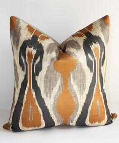 Tribal Chic Ikat Pillow Cover / 18 x 18 / Desert Palette Den Ikat Pillows, Accent Pillows, Decorative Pillows, Ikat Pattern, Ikat Print, Ikat Fabric, Textiles, Living Room Grey, Bunt