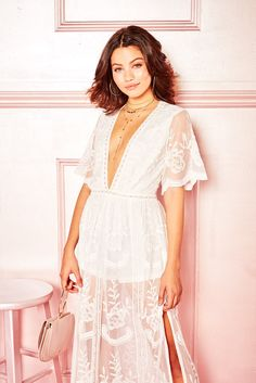 5572fd9dbae HONEYBUM LADY LACE MAXI PLAYSUIT in WHITE Maxi Playsuit