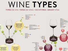 WINE TYPES POSTER  Key wine styles in terms of body and flavor intensity. Designed as a starting point for the enjoyment and understanding of wine. A great conversation piece – gets people talking about how different wine types relate to one another. An attractive addition to any kitchen, wine cellar, or restaurant. An ideal gift for all wine lovers.