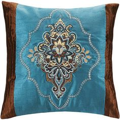 Better Homes and Gardens Paisley Jacquard Decorative Pillow, Square