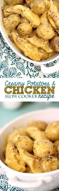 Perfect weeknight meal. Tasty and simple creamy potato chicken with only 3 ingredients!
