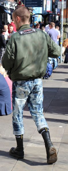 Skinheads in black & white camouflage pants | Boots