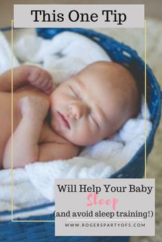 Do you have a newborn baby at home? Are you exhausted waiting for your baby to sleep through the night? This one tip could help your baby sleep through the night without sleep training or hours of rocking them to sleep.