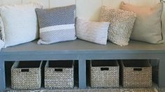 They Make This Amazing Farmhouse Bench That Adds So Much Charm To A Home!   DIY Joy Projects and Crafts Ideas