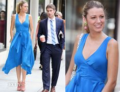 500835d3130 On The Set Of Gossip Girl With Blake Lively In Marc by Marc Jacobs