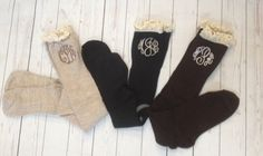 Monogrammed Boot Socks or Monogrammed Boot Soxs by DesignsbyApril1234 on Etsy https://www.etsy.com/listing/177027830/monogrammed-boot-socks-or-monogrammed