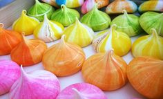 Their colourful meringue kisses are coming from Lucid Sweets Geebung.