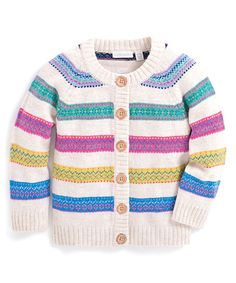Another great find on #zulily! Multicolor Fair Isle Stripe Cardigan - Infant, Toddler & Girls #zulilyfinds