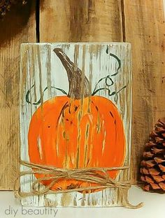 Best Fun Fall Crafts · Cozy Little House Autumn Crafts, Thanksgiving Crafts, Holiday Crafts, Fall Wood Crafts, Pumpkin Crafts, Fall Halloween, Halloween Crafts, Halloween Signs, Autumn Painting
