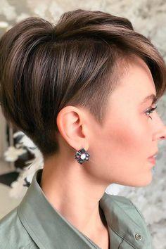 Asymmetrical Pixie Haircut, Longer Pixie Haircut, Haircut For Thick Hair, Short Grey Hair, Short Hair With Layers, Short Hair Cuts For Women, Undercut Hairstyles, Pixie Hairstyles, Pretty Hairstyles