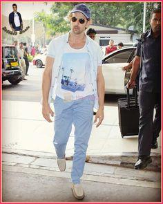 Hrithik Roshan, Overalls, Mens Tops, T Shirt, Pants, Fashion, Supreme T Shirt, Trouser Pants, Moda