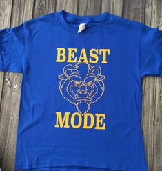 Beast Mode Beauty and the Beast Belle Shirt great for a trip to Disney father and son shirts vacation by WholeHeartCreations on…