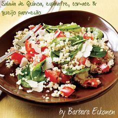 salada de quinua espinafre e parmesão