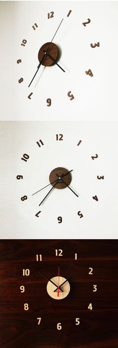 Laser cut wall clock comes in two beautiful wood finishes: Walnut or Cherry. Get creative with the placement of the numbers or use the included template to create 2 different styles!