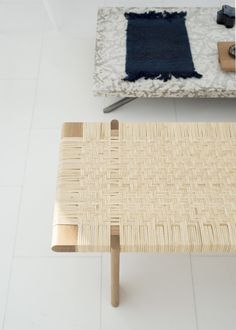 Stockholm Canadian designer Thom Fougere has created a collection of furniture and homeware based on his home country, including a set of fireplace accessories based on historic tools and … Studio Furniture, Home Furniture, Furniture Design, Bench Furniture, Sitting Bench, Bed Bench, Daybed, Study Room Design, Rattan Coffee Table