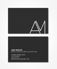 Carte de visite d'une architecte réalisée par C&C Branding #logotype…