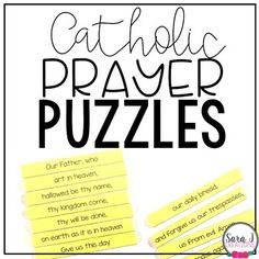 Memorizing prayers is a difficult but important part of the Catholic faith. I designed these Catholic Prayer Puzzles to help my first graders with the prayers they needed to memorize. I've also added other prayers so you have a variety of prayers to choose from depending on the grade level you tea...