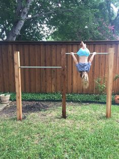House Homemade: Backyard Jungle Gym Bars (without concrete!) outdoor play area for kids cheap Backyard Jungle Gym Bars (without concrete! Backyard Jungle Gym, Backyard Swing Sets, Backyard For Kids, Backyard Patio, Backyard Landscaping, Landscaping Ideas, Backyard Designs, Concrete Backyard, Patio Ideas