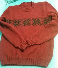Kış ayını hayli verimli geçirdim. Oğluma ördüğüm jakarlı kazak. #knitting #kazak #handmade