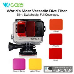WoCase® Switchable Scuba Sea Diving Dive Lens Filter Set for GoPro HERO4 HERO3+ - http://scuba.megainfohouse.com/wocase-switchable-scuba-sea-diving-dive-lens-filter-set-for-gopro-hero4-hero3/