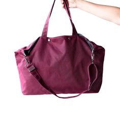 The Porter in Deep Magenta Waxed Canvas