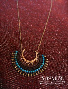 kashmiri micro macrame pendant by yasmin